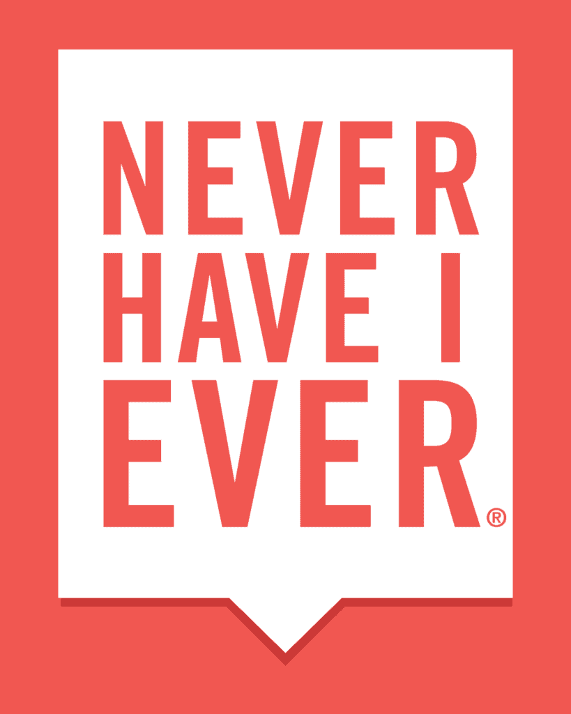 never have i ever game bubble logo
