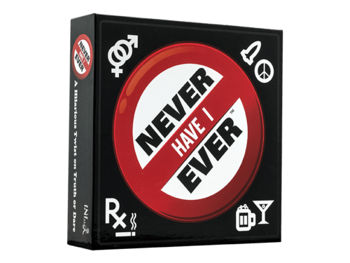 Never have I ever game board game box